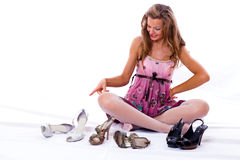 Free The Choice Of Shoes Is Very Difficultly. Stock Images - 6393464