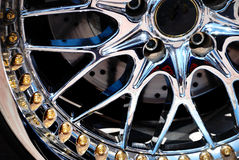 Free The Chromeplated Rim Of A Wheel Royalty Free Stock Images - 10864589