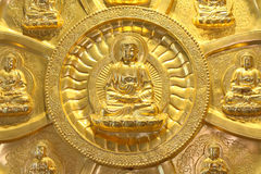 The Circle Of Golden Buddha Stock Photography