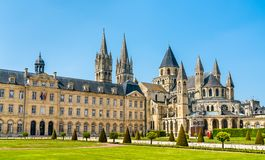 Free The City Hall And The Abbey Of Saint-Etienne In Caen, France Stock Photo - 127108920