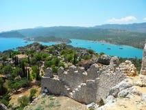 The City Of Simena, Turkey. Royalty Free Stock Images