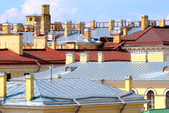 The City Roofs Royalty Free Stock Photos