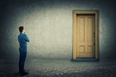 Free The Closed Door Royalty Free Stock Photography - 115176147