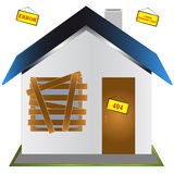 The Closed House Royalty Free Stock Images