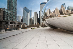 The Cloud Gate (a.k.a. The Bean Chicago) Royalty Free Stock Photography