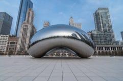 The Cloud Gate (a.k.a. The Bean Chicago) Stock Photo