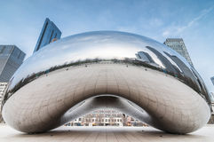 The Cloud Gate (a.k.a. The Bean Chicago) Stock Images
