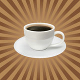 The Coffee Cup On A Brown Background Stock Image