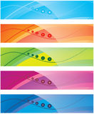 The Collection Of Colorful Backgrounds Stock Photography
