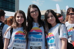 Free The Color Run 2017 In Bucharest, Romania. Royalty Free Stock Photography - 91074587