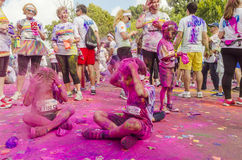 Free The Color Run Bucharest Stock Photography - 44614722