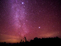 Free The Colorful Sky With Clusters Of Stars And Milkyway Galaxy Abov Stock Photography - 94781632