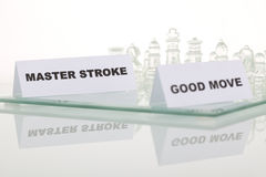 The Concept Of A Good Strategy. Stock Images