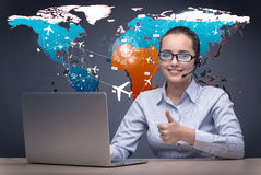 Free The Concept Of Online Booking With Busineswoman And Laptop Stock Photo - 78048670