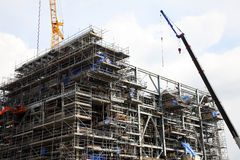 The Construction Of Drilling Platform Stock Image