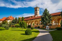 Free The Coronation Cathedral Courtyard And St. Michael Catholic Cathedral Inside Alba Iulia Fortress, Transylvania, Romania Royalty Free Stock Photography - 175802027