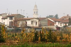 The Countryside In Cremona, Italy. Castelllo San Lorenzo Royalty Free Stock Photos