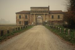 The Countryside In Cremona, Italy. Santa Maria Del Campo Royalty Free Stock Photos
