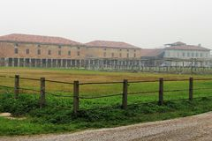 The Countryside In Cremona, Italy. Santa Maria Del Campo Royalty Free Stock Photography