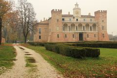 The Countryside In Cremona, Italy. Villa Medici Del Vascello Royalty Free Stock Photo