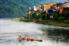 The Countryside Scenery Of Wuyuan Ancient Village Royalty Free Stock Image