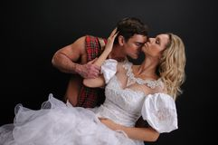 Free The Couple Poses For The Camera. Stock Images - 117404084