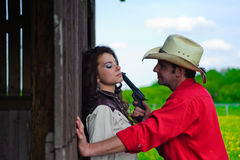 Free The Cowboy With A Pistol In Hands Stock Image - 16335901