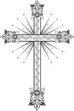 The Cross With Light. Doodle Graphic. Stock Photography