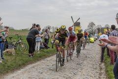 The Cyclist Tony Martin - Paris-Roubaix 2018 Royalty Free Stock Photos