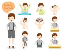 Free The Daily Routines Of Boy Stock Images - 112721404