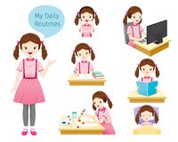 Free The Daily Routines Of Girl Stock Photos - 112721393