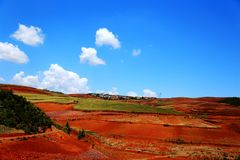 Free The Dazzling Dongchuan Red Soil Scenic Area Stock Images - 129519424