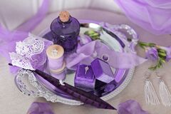 Free The Details Of The Lilac Wedding Morning Stock Images - 198336924