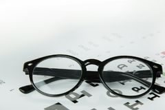 Free The Diagram Of Checking Eyes Glasses Optometry Medical Background. Stock Photo - 121241450