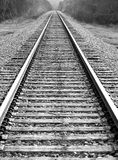 The Distance Of The Railway Stock Image