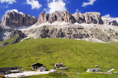 The Dolomites Of The Pordoi Pass Stock Photo