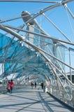 The Double Helix Bridge Stock Image