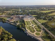 Free The Drone Aerial View Of  Hampton Court Palace Royalty Free Stock Images - 196750379