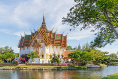 Free The Dusit Maha Prasat In The Ancient Siam Royalty Free Stock Photography - 72451087