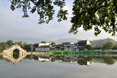 The Early Morning Of Hongcun Royalty Free Stock Photography