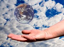 The Earth Is In Our Hands Stock Image