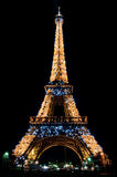 The Eiffel Tower At Night Royalty Free Stock Image