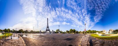 Free The Eiffel Tower Seen From Pont D`Iena In Paris, France. 360 Degree Panoramic View Royalty Free Stock Photography - 176434207