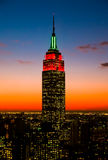 The Empire State Building And Manhattan Skylines Royalty Free Stock Photo
