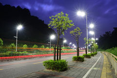 The Energy Saving Streetlights Made By LED Royalty Free Stock Images