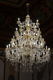 The Enormous Glass Chandelier Royalty Free Stock Photos