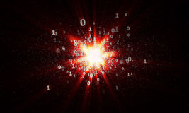 Free The Explosion Of Binary Stars In Cyberspace Stock Image - 74189241