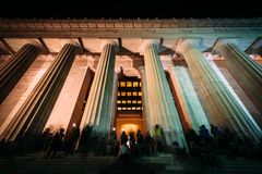 Free The Exterior Of The Lincoln Memorial At Night, In Washington, DC Royalty Free Stock Photos - 79088798