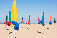 Free The Famous Colorful Parasols On Deauville Beach Stock Photos - 68168973