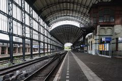 The Famous Haarlem Train Station With Its Elegant Art Nouveau Ar Royalty Free Stock Images